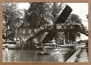 """Alte Ansichtskarte/AK/Postkarte: """"Woltersdorf Kr. Fürstenwalde - Schleuse"""" (Woltersdorf bei Berlin)"""