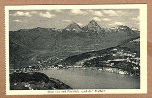 Alte Ansichtskarte/AK/Postkarte: Brunnen mit Axenfels und den Mythen