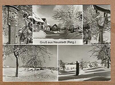 Alte Ansichtskarte/AK/Postkarte: Gruß aus Neustadt (Rstg.)