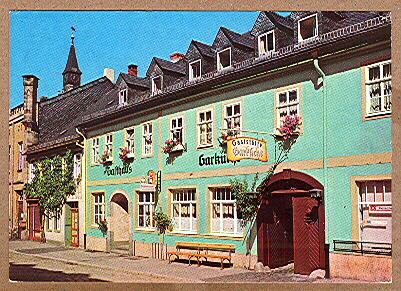 """Alte Ansichtskarte/AK/Postkarte: Leutenberg (Thür.) - Gaststätte """"Garküche"""""""