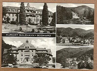 "Alte Ansichtskarte/AK/Postkarte: ""Kurort Sülzhayn - Südharz"""