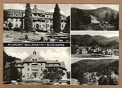 "Alte Ansichtskarte/AK/Postkarte: ""Kurort Sülzhayn - Südharz"" -"