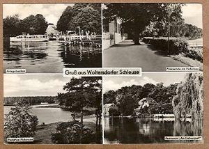 """Alte Ansichtskarte/AK/Postkarte: """"Gruß aus Woltersdorfer Schleuse"""""""