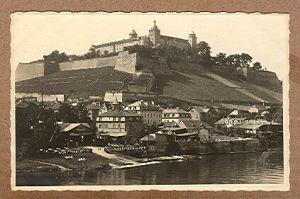 Alte Ansichtskarte/AK/Postkarte: Würzburg - Blick auf die Festung Marienberg