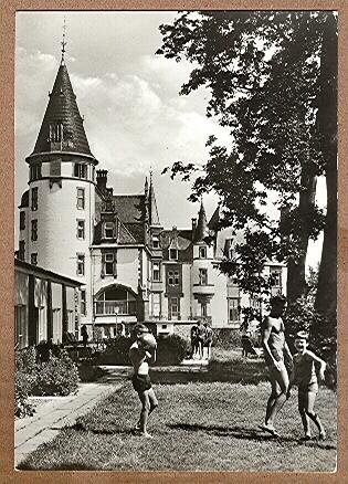 """Alte Ansichtskarte/AK/Postkarte: Klink (Kr. Waren / Müritz) FDGB-Ferienobjekt Erholungsheim """"Schloß Klink"""""""