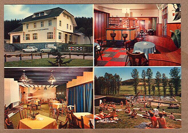 """Alte Ansichtskarte/AK/Postkarte: """"Hotel-Restaurant Wisonbrona, Inh. L. Henkes-Struck, 4783 Wiesenbach (St. Vith)"""