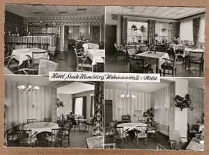"""Alte Ansichtskarte/AK/Postkarte: Hotel """"Stadt Hamburg"""", Hohenwestedt i. Holst., Bes. U. Wesselmann, gelegen an der Bundesstraße 77"""