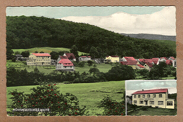 Alte Ansichtskarte/AK/Postkarte: Wommelshäuser-Hütte, Haus Salzbödetal, Bes. Müller & Schreull, Hartenrod