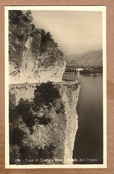 Alte Ansichtskarte/AK/Postkarte: Lago di Garda - Riva - Strada del Ponale