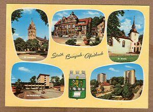 Alte Ansichtskarte/AK/Postkarte: Stadt Bergisch Gladbach