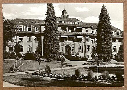 "Alte Ansichtskarte/AK/Postkarte: Kurort Sülzhayn (Südharz), Haus ""Ossietzky"""