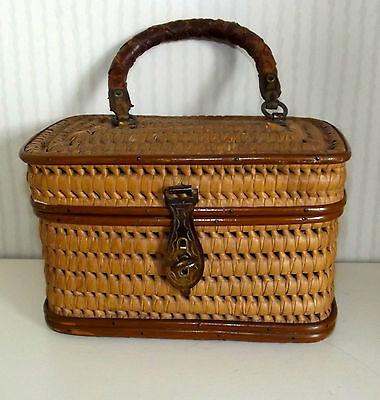 Seltene Kinder Handtasche geflochten Korbtasche