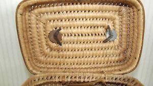 Seltene Kinder Handtasche geflochten Korbtasche 1