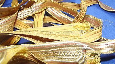 10 Abschnitte Litze Tresse Gold von hoher Qualität