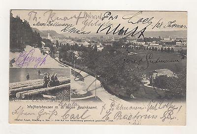 AK-1-5 / AK Wolfratshausen Neues Bezirksamt 1905 Sonderstempel Turnerschaft