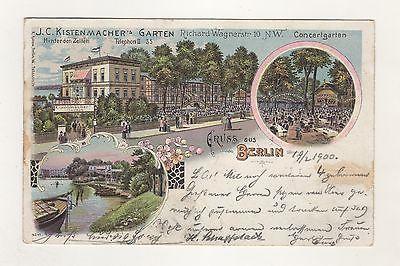 AK-1-4 / Alte Ansichtskarten Litho Kistenmacher´s Garten Berlin 1900 Gaststätte