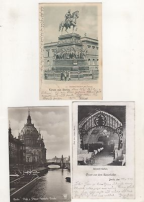 AK-1-3 / Alte Ansichtskarten aus Berlin 3 Stück