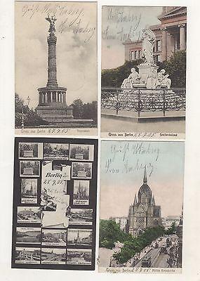 AK-1-2 / Alte Ansichtskarten aus Berlin 4 Stück um 1905