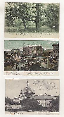 AK-1 / Alte Ansichtskarten aus Berlin 3 Stück um 1905