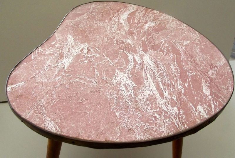 Beistelltisch Nierentisch 60 er Tisch 50er Hocker Holz Tischchen Blumenbank 1
