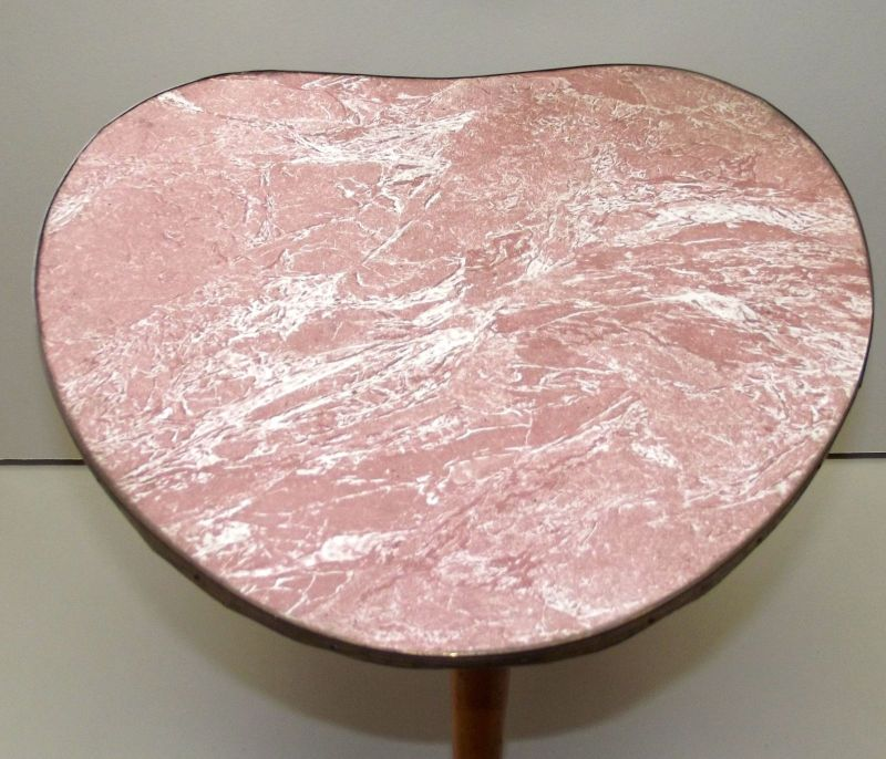 Beistelltisch Nierentisch 60 er Tisch 50er Hocker Holz Tischchen Blumenbank 5