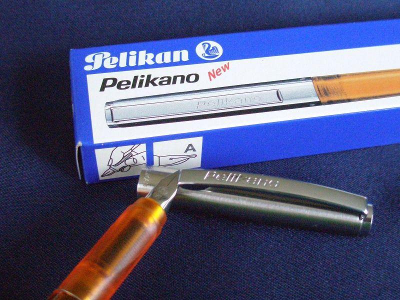 Pelikano P 450 A Orange Transparent Modell 2000 OVP Neu Pelikan Füller
