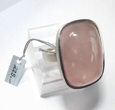 Wunderschöner großer Rosenquarz Ring 925er Silber Juweliernachlass ungetragen