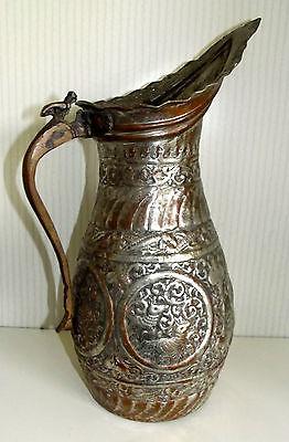 Ungewöhnliche Kupfer Karaffe Wasserkanne wohl Asien 40 cm hoch 0