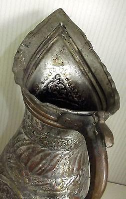 Ungewöhnliche Kupfer Karaffe Wasserkanne wohl Asien 40 cm hoch 2