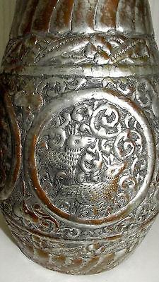 Ungewöhnliche Kupfer Karaffe Wasserkanne wohl Asien 40 cm hoch 5