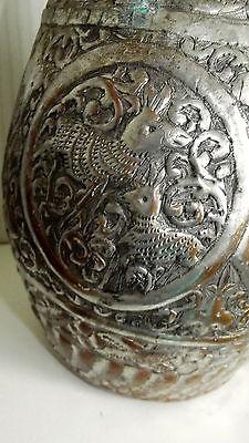 Ungewöhnliche Kupfer Karaffe Wasserkanne wohl Asien 40 cm hoch 6