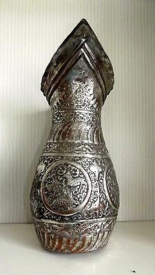 Ungewöhnliche Kupfer Karaffe Wasserkanne wohl Asien 40 cm hoch 8