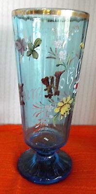 Andenken Weizenbier Glas Zum Wohle Email Malerei