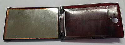 Silver troy Mirror Bakelite Bakelit Taschenspiegel für Soldaten 2 WK US-Army