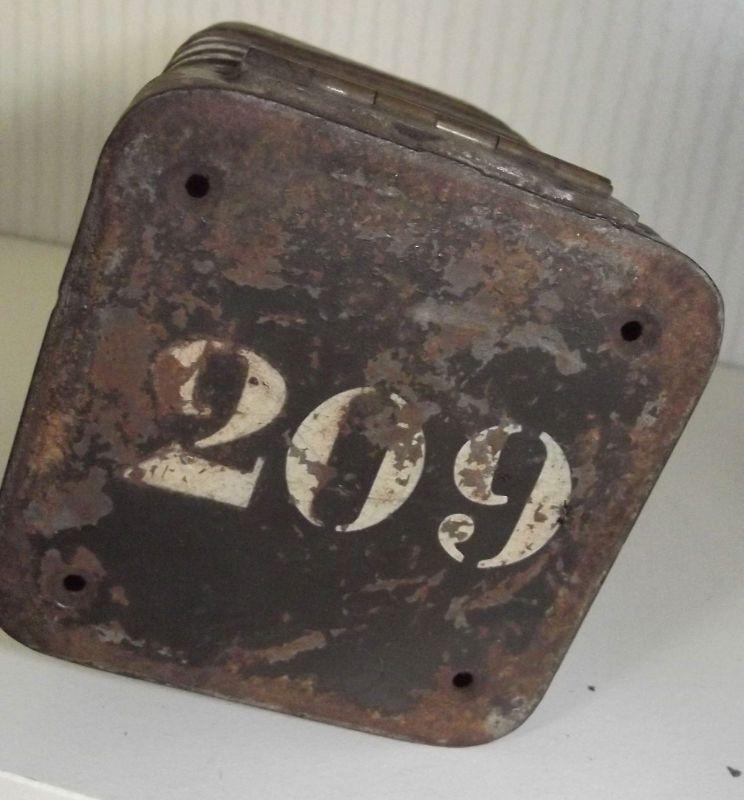 Tornister Blechdose wohl WK1 Dose für den Gürtel Nr 209 wohl 1 Weltkrieg