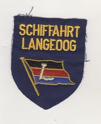 Uniform Aufnäher Patches Schifffahrt Langeoog