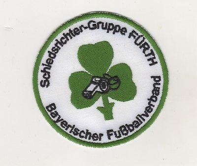Aufnäher Patches Fussball Schiedsrichter Gruppe Fürth Bayrischer Fussballverband