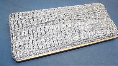 Litze Tresse für Uniform Trachten  Silberfäden Stickerei