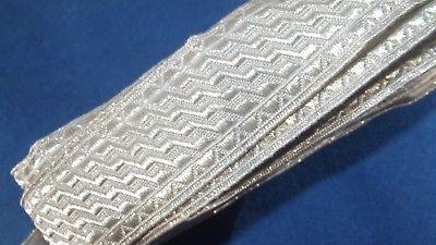 Antike Silber Bordüre Litze Tresse Trachten Mittelalter 6 m x 30 mm