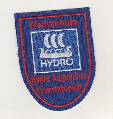 Uniform Aufnäher  Patches Werkschutz Hydro Aluminium Grevenbroich