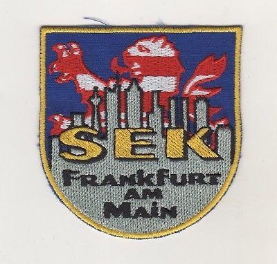 Original Aufnäher Patches SEK Frankfurt am Main