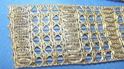 Wunderschöne Antike Trachten Litze Tresse Bordüre Borte Gold 1,60 Meter x 60 mm
