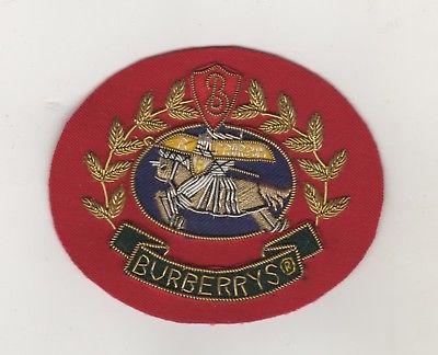 Hochwertiger Bouillon Stickerei Firmen Aufnäher Patches Burberry London / Rot