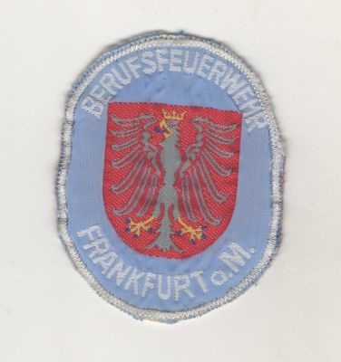 Uniform Aufnäher Patches Ärmelabzeichen Feuerwehr Berufsfeuerwehr Frankfurt Main