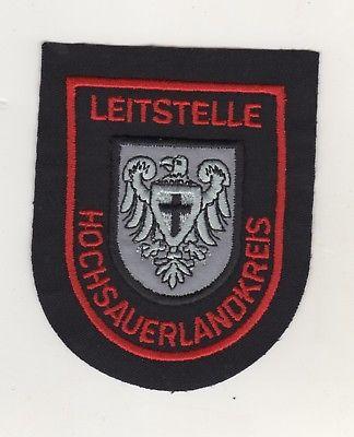 Uniform Behörden Aufnäher Patches Leitstelle Hochsauerlandkreis Sauerland / Rot