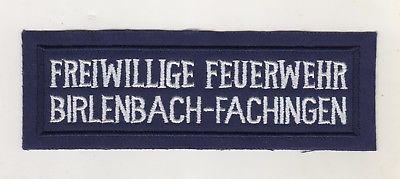 Aufnäher Uniform Patches Freiwillige Feuerwehr Birlenbach Fachingen