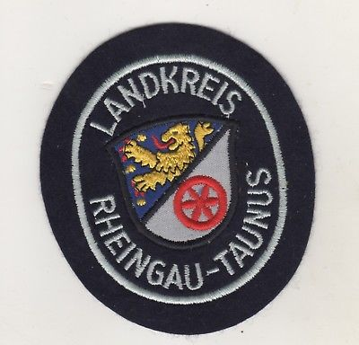 Behörden Uniform Aufnäher Patches Landkreis Rheingau-Taunus / Schwarz / Weiss