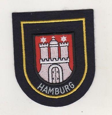 Feuerwehr Uniform Aufnäher Patches Ärmelabzeichen Hamburg
