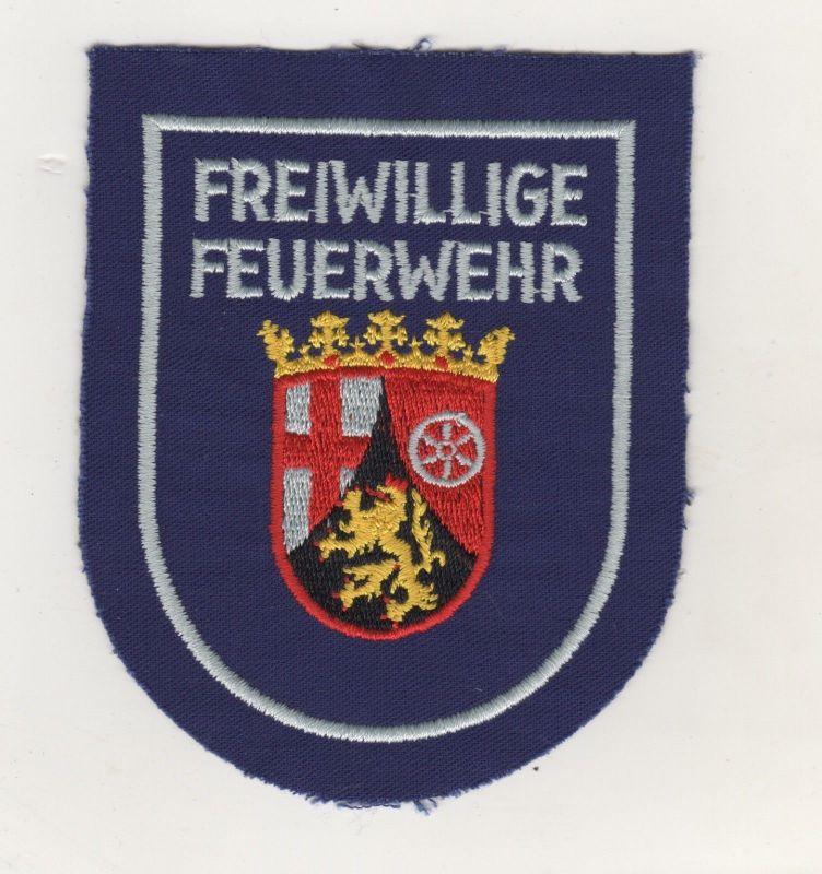Hochwertiger Uniform Aufnäher Patches Freiwillige Feuerwehr Rheinland Pfalz