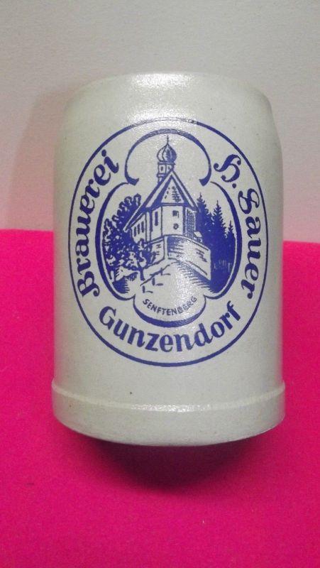 Bierkrug Brauerei Sauer Gunzendorf bei Bamberg Oberfranken 0,5 Liter